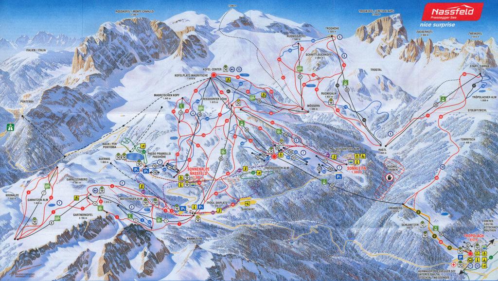 Nassfeld sítérképe